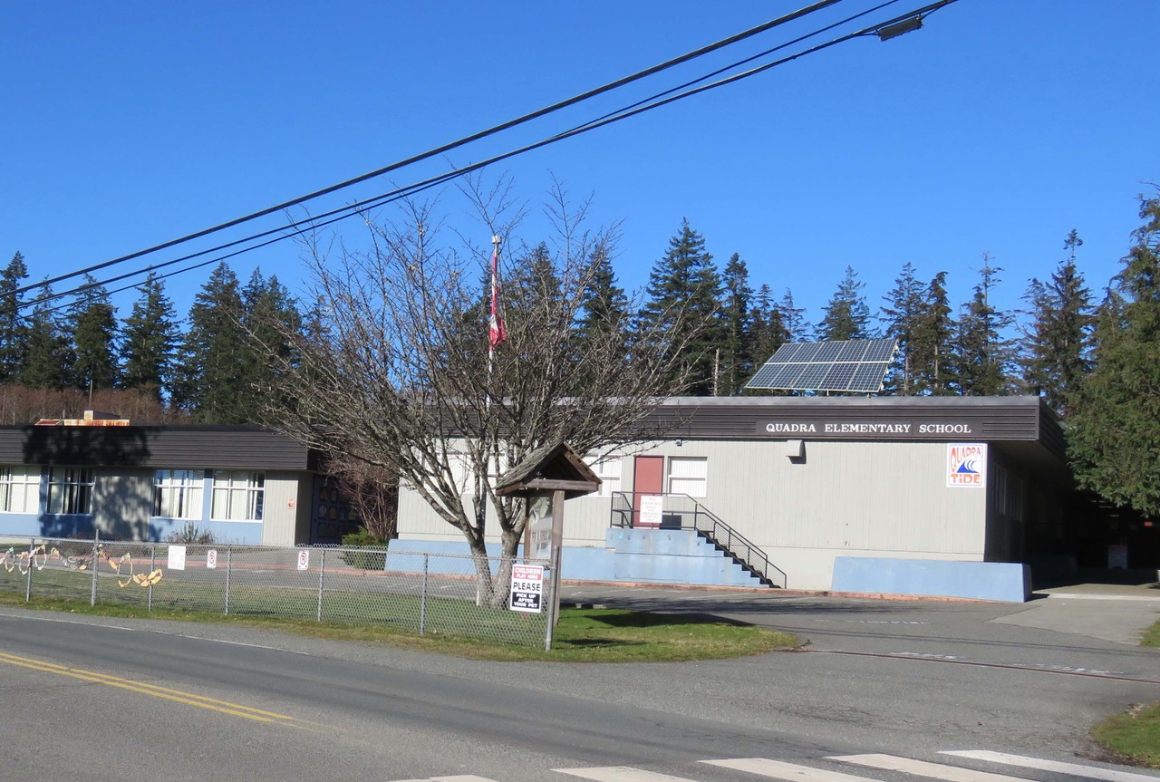 Artist rendition of solar panels installed on Quadra Elementary School